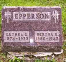 EPPERSON, BERTHA E. - Shelby County, Ohio | BERTHA E. EPPERSON - Ohio Gravestone Photos