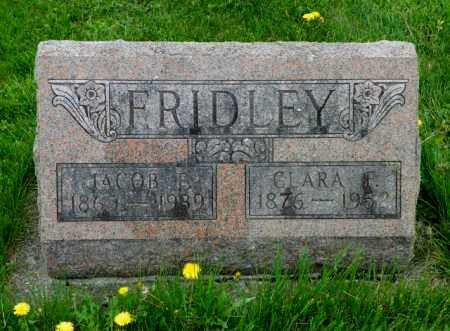 FRIDLEY, JACOB F. - Shelby County, Ohio | JACOB F. FRIDLEY - Ohio Gravestone Photos