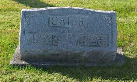 GAIER, FERDINAND - Shelby County, Ohio | FERDINAND GAIER - Ohio Gravestone Photos