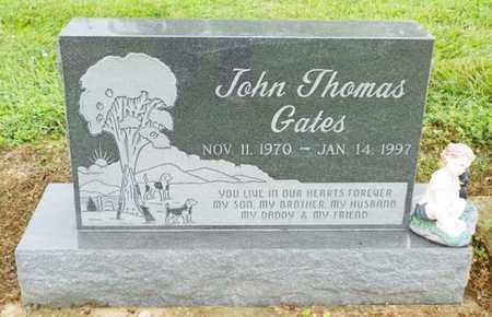GATES, JOHN THOMAS - Shelby County, Ohio | JOHN THOMAS GATES - Ohio Gravestone Photos