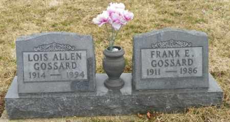 ALLEN GOSSARD, LOIS - Shelby County, Ohio | LOIS ALLEN GOSSARD - Ohio Gravestone Photos