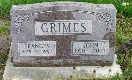 GRIMES, JOHN - Shelby County, Ohio | JOHN GRIMES - Ohio Gravestone Photos