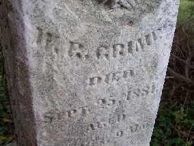 GRIMES, W. R. - Shelby County, Ohio | W. R. GRIMES - Ohio Gravestone Photos