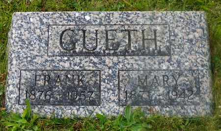 GUETH, MARY - Shelby County, Ohio | MARY GUETH - Ohio Gravestone Photos