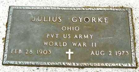 GYORKE, JULIUS - Shelby County, Ohio | JULIUS GYORKE - Ohio Gravestone Photos