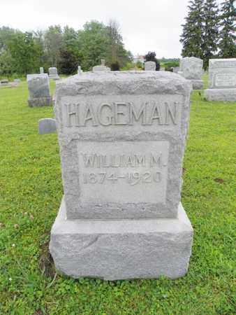 HAGEMAN, WILLIAM M. - Shelby County, Ohio | WILLIAM M. HAGEMAN - Ohio Gravestone Photos
