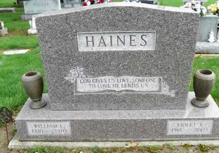 HAINES, WILLIAM L. - Shelby County, Ohio | WILLIAM L. HAINES - Ohio Gravestone Photos