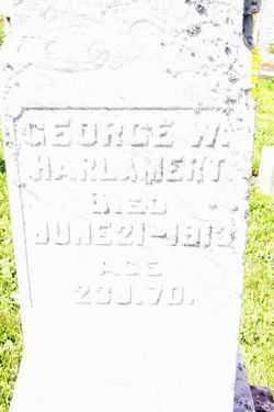 HARLAMERT, GEORGE W - Shelby County, Ohio   GEORGE W HARLAMERT - Ohio Gravestone Photos