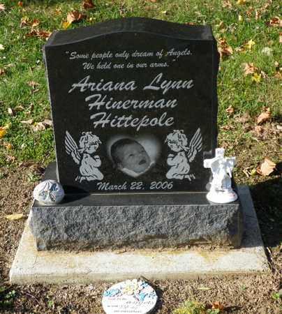 HITTEPOLE, ARIANA LYNN HINERMAN - Shelby County, Ohio | ARIANA LYNN HINERMAN HITTEPOLE - Ohio Gravestone Photos