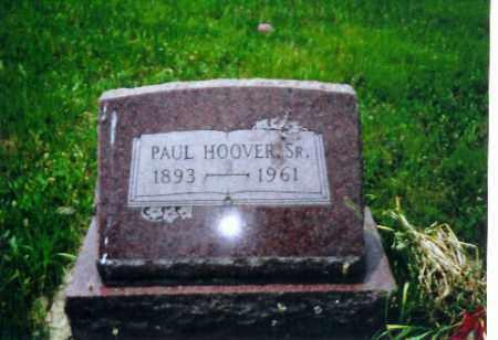 HOOVER, SR., PAUL - Shelby County, Ohio | PAUL HOOVER, SR. - Ohio Gravestone Photos