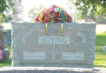 HOYING, ANNA E. - Shelby County, Ohio | ANNA E. HOYING - Ohio Gravestone Photos