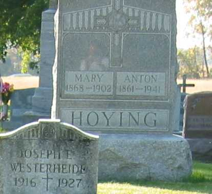 HOYING, ANTON - Shelby County, Ohio | ANTON HOYING - Ohio Gravestone Photos