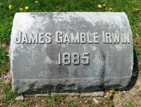 IRWIN, JAMES GAMBLE - Shelby County, Ohio | JAMES GAMBLE IRWIN - Ohio Gravestone Photos
