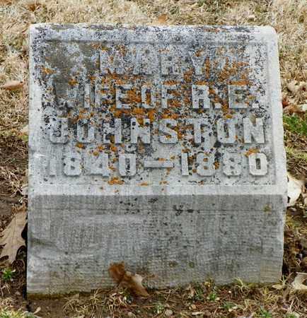 JOHNSTON, MARY A. - Shelby County, Ohio   MARY A. JOHNSTON - Ohio Gravestone Photos