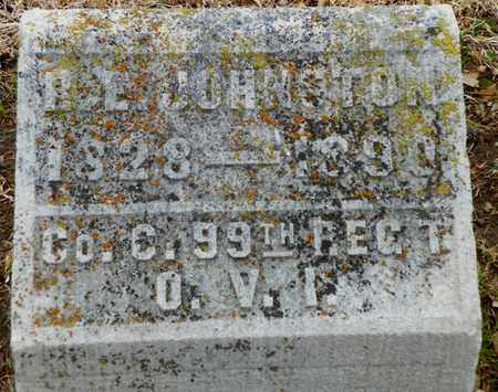 JOHNSTON, R. E. - Shelby County, Ohio   R. E. JOHNSTON - Ohio Gravestone Photos
