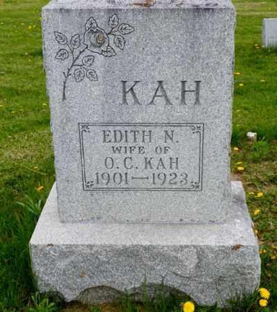 KAH, EDITH N. - Shelby County, Ohio   EDITH N. KAH - Ohio Gravestone Photos