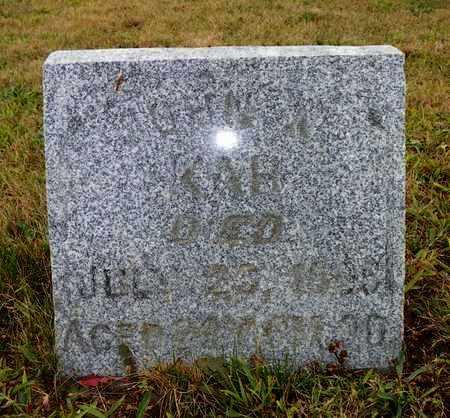 KAH, JOHN W. - Shelby County, Ohio | JOHN W. KAH - Ohio Gravestone Photos