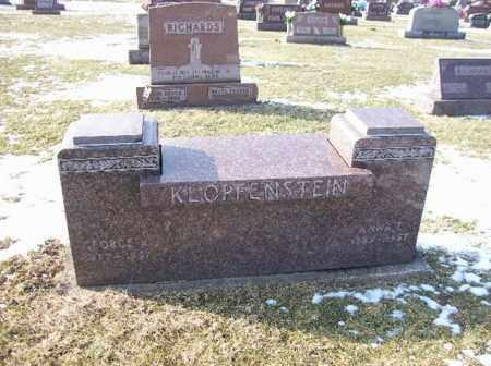 HOFFMAN KLOPFENSTEIN, ANNA - Shelby County, Ohio   ANNA HOFFMAN KLOPFENSTEIN - Ohio Gravestone Photos