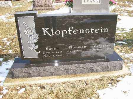 KLOPFENSTEIN, VIRGINIA - Shelby County, Ohio | VIRGINIA KLOPFENSTEIN - Ohio Gravestone Photos