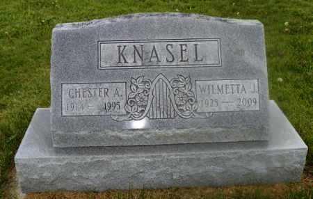 KNASEL, CHESTER A. - Shelby County, Ohio | CHESTER A. KNASEL - Ohio Gravestone Photos
