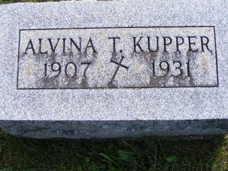 KUPPER, ALVINA - Shelby County, Ohio   ALVINA KUPPER - Ohio Gravestone Photos