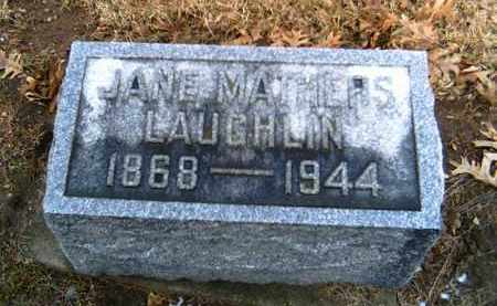 MATHERS LAUGHLIN, JANE - Shelby County, Ohio   JANE MATHERS LAUGHLIN - Ohio Gravestone Photos