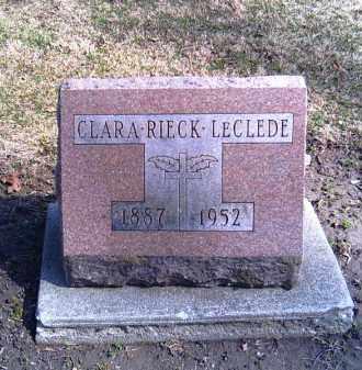LECLEDE, CLARA - Shelby County, Ohio | CLARA LECLEDE - Ohio Gravestone Photos