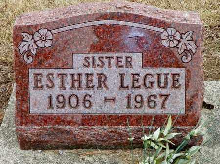 LEGUE, ESTHER - Shelby County, Ohio   ESTHER LEGUE - Ohio Gravestone Photos