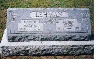 LEHMAN, MARY A. - Shelby County, Ohio | MARY A. LEHMAN - Ohio Gravestone Photos