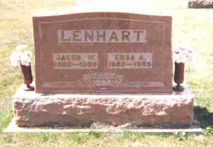 CROTHERS LENHART, ERSA ALEATHA - Shelby County, Ohio | ERSA ALEATHA CROTHERS LENHART - Ohio Gravestone Photos