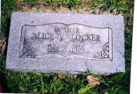 LOCKER, ALICE V - Shelby County, Ohio | ALICE V LOCKER - Ohio Gravestone Photos