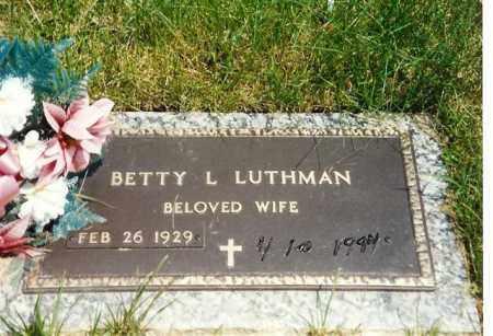 SCHAFFNER LUTHMAN, BETTY - Shelby County, Ohio | BETTY SCHAFFNER LUTHMAN - Ohio Gravestone Photos