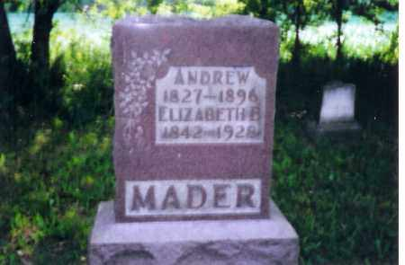 MADER, ANDREW - Shelby County, Ohio | ANDREW MADER - Ohio Gravestone Photos