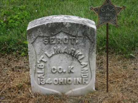 MARKLAND, ALBERT L. - Shelby County, Ohio   ALBERT L. MARKLAND - Ohio Gravestone Photos