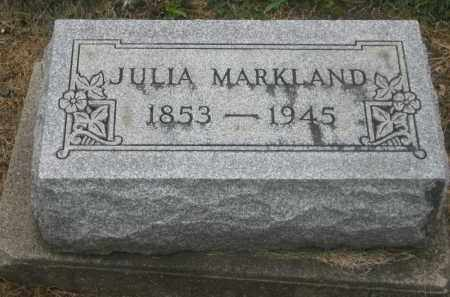 KAH MARKLAND, JULIA - Shelby County, Ohio | JULIA KAH MARKLAND - Ohio Gravestone Photos