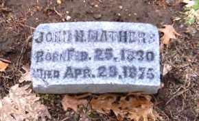 MATHERS, JOHN H. - Shelby County, Ohio | JOHN H. MATHERS - Ohio Gravestone Photos