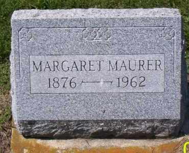 MAURER, MARGARET - Shelby County, Ohio   MARGARET MAURER - Ohio Gravestone Photos