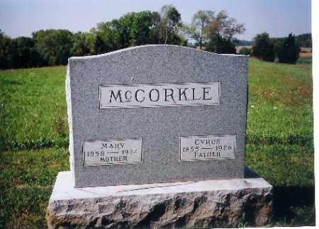MCCORKLE, CYRUS - Shelby County, Ohio   CYRUS MCCORKLE - Ohio Gravestone Photos