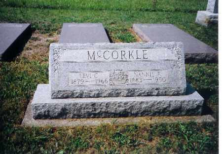 MCCORKLE, NANNIE F - Shelby County, Ohio | NANNIE F MCCORKLE - Ohio Gravestone Photos