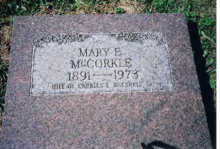 MCCORKLE, MARY F - Shelby County, Ohio | MARY F MCCORKLE - Ohio Gravestone Photos