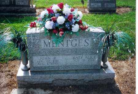 MENTGES, MARY ALICE - Shelby County, Ohio | MARY ALICE MENTGES - Ohio Gravestone Photos
