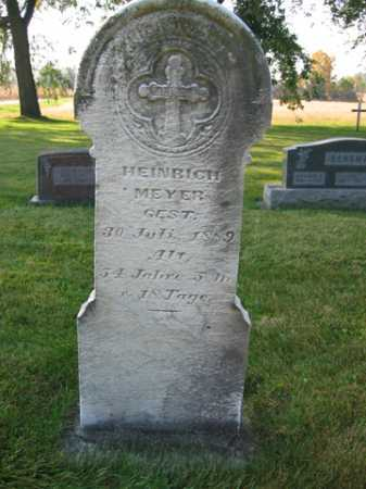 MEYER, HEINRICH - Shelby County, Ohio | HEINRICH MEYER - Ohio Gravestone Photos