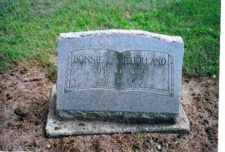 MILLHOLLAND, BONNIE E - Shelby County, Ohio | BONNIE E MILLHOLLAND - Ohio Gravestone Photos