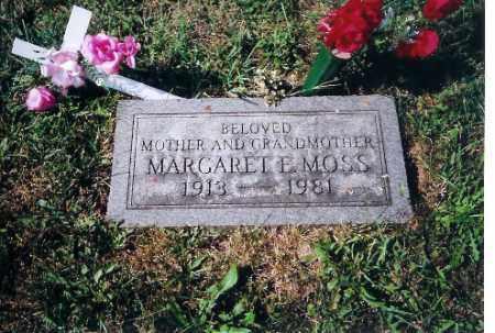 MOSS, MARGARET E - Shelby County, Ohio   MARGARET E MOSS - Ohio Gravestone Photos