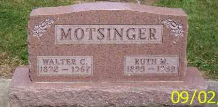 MOTSINGER, WALTER C. - Shelby County, Ohio | WALTER C. MOTSINGER - Ohio Gravestone Photos