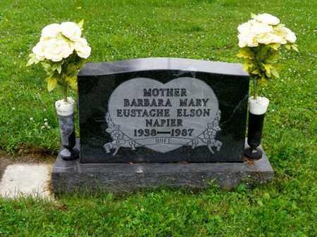 EUSTACHE NAPIER, BARBARA MARY - Shelby County, Ohio   BARBARA MARY EUSTACHE NAPIER - Ohio Gravestone Photos