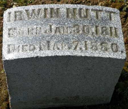 NUTT, IRWIN - Shelby County, Ohio | IRWIN NUTT - Ohio Gravestone Photos
