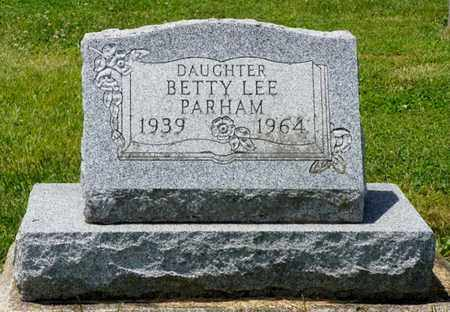 PARHAM, BETTY LEE - Shelby County, Ohio | BETTY LEE PARHAM - Ohio Gravestone Photos
