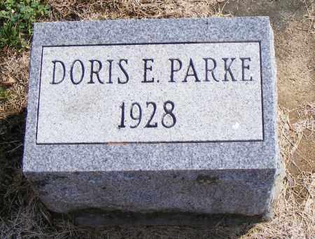PARKE, DORIS  E - Shelby County, Ohio   DORIS  E PARKE - Ohio Gravestone Photos
