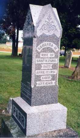 PARR, BARBARA - Shelby County, Ohio | BARBARA PARR - Ohio Gravestone Photos